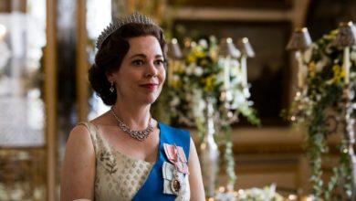 "Olivia Colman as Queen Elizabeth II on ""The Crown."""