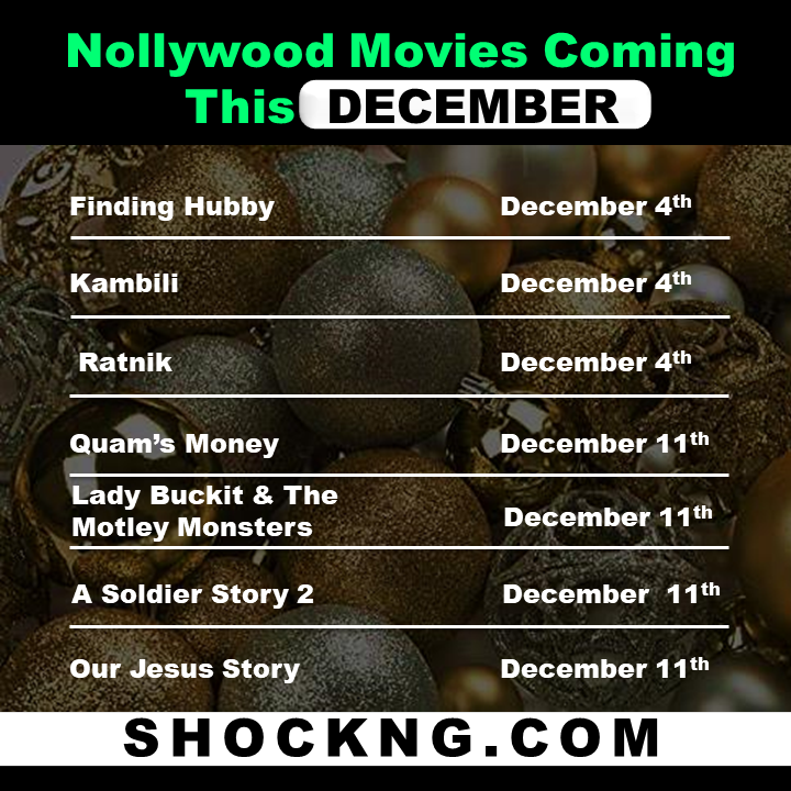 Nollywood Box Office movies in December - 7 Nollywood Titles Set to Clash For Box Office December 4th & 11th 2020
