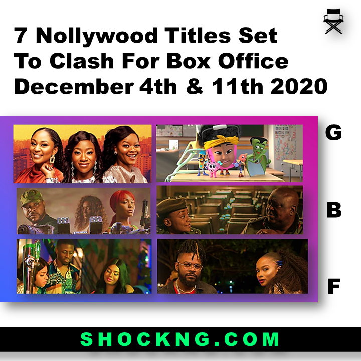 Nollywood movies 2020  - 7 Nollywood Titles Set to Clash For Box Office December 4th & 11th 2020