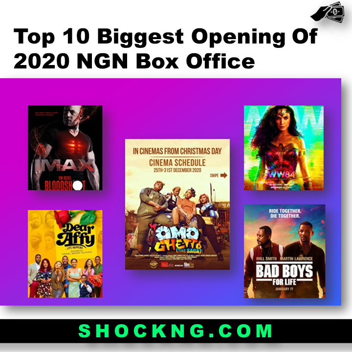 omo ghetto movie - Top 10 Biggest Opening Of 2020 NGN Box Office